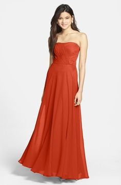 Hailey by Adrianna Papell Strapless Chiffon Gown available at #Nordstrom