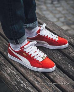 4daa25f7b056d PUMA 50th Anniversary Red White 36--44 For Sale Best Sneakers, Shoes  Sneakers