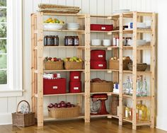 Swedish Wood Shelving from Williams-Sonoma   Using IKEA Gorm shelving to get this look for less!
