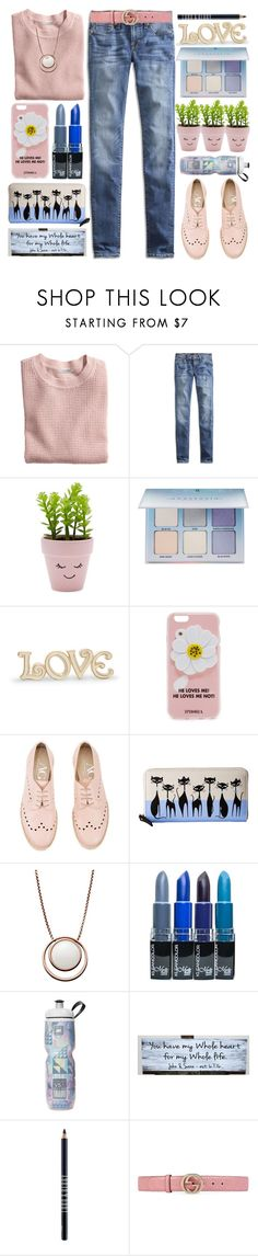 """He Loves Me!"" by grozdana-v ❤ liked on Polyvore featuring H&M, Lucky Brand, New Look, Anastasia Beverly Hills, Lenox, Iphoria, Attilio Giusti Leombruni, Kate Spade, Skagen and Lord & Berry"