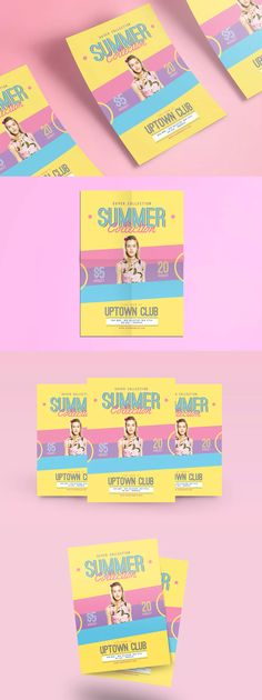 Summer Fashion Flyer Template PSD - A4
