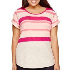 a.n.a® Short-Sleeve Boyfriend T-Shirt - Plus - JCPenney