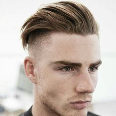 Long Textured Slick Back with Undercut Mens Hairstyles With Beard, Greasy Hair Hairstyles, Undercut Hairstyles, Hair And Beard Styles, Hairstyles Haircuts, Haircuts For Men, Curly Hair Styles, Moustaches, Undercut Pompadour