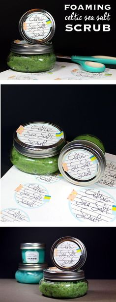 This foaming Celtic sea salt scrub recipe contains light grey Celtic sea salt to moisturize, revitalize, exfoliate, and detox skin and calm inflammation.