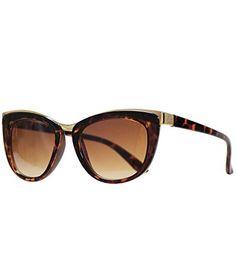 Damen Katzenaugen Sonnenbrille Retro Cateye Brille UV400 Gespiegelte Linse