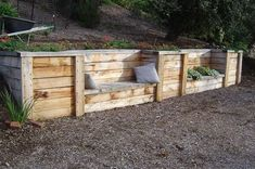 wood retaining wall under deck . ensure a design ., wood retaining wall under deck . ensure a design that complements your home and reflects your personal tastes but there are a number of simple landscape design ideas that you can. Wooden Retaining Wall, Backyard Retaining Walls, Sloped Backyard, Sloped Garden, Backyard Landscaping, Landscaping Ideas, Pergola Ideas, Backyard Seating, Garden Seating