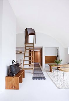 Such a cool loft entrance
