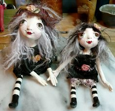 My traveling doll I made and the other went to my beautiful friend Rene