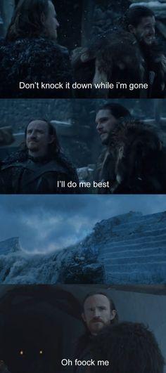 You had one job Game of Thrones funny humour meme season 7. Jon Snow the wall Dolorous Ed Kit Harington