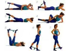 elastici esercizi gambe - Google Search