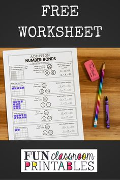 Addition Number Bonds: Making Twenty - Fun Classroom Printables Number Bonds To 20, Year 2 Maths, Math Sheets, Simple Addition, Numeracy, Addition And Subtraction, Mathematics, School Stuff, Teaching Ideas