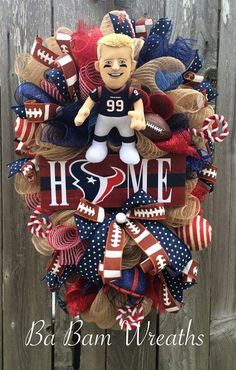 Custom Order Houston Texans Wreath Houston Texans by BaBamWreaths