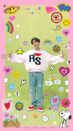 Bts Kawaii, Mode Kawaii, K Wallpaper, Aesthetic Iphone Wallpaper, Kawaii Icons, J Hope Dance, Bts Aesthetic Pictures, Bts Backgrounds, Hoseok Bts