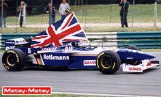 Damon, his father's son. F1 Racing, Racing Team, Formula 1, Formula One Champions, F1 Motor, Damon Hill, Japanese Grand Prix, Williams F1, Blues