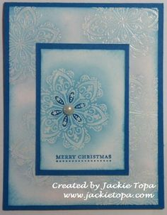 Christmas Doily Using Mixed Bunch stamp