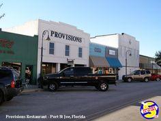 "Provisions Restaurant for great food in Port St Joe, Florida. It's a must when you visit e ""Forgotten Coast"". http://www.snowbirdrvtrails.com/mexicobeach.htm"