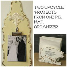 two upcycled projects from one pig mail organizer, chalk paint, crafts, how to, organizing, repurposing upcycling