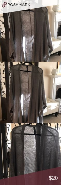 Plus size kimono open front light gray NWOT Plus size Kimono light gray shirt sleeve 2x/3x. Really soft and cute addition to your closet! Marla Wayne Qvc Sweaters Shrugs & Ponchos