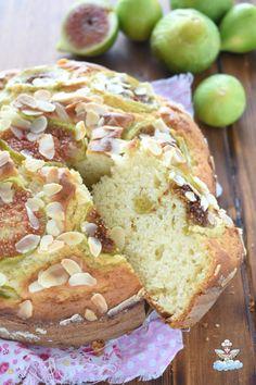 torta di fichi con ricotta e mandorle Cranberry Bread, Sweetest Day, Daily Meals, Pound Cake, Sweet Bread, Pie Recipes, Panna Cotta, Muffin, Veggies