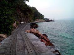 Morning island walk