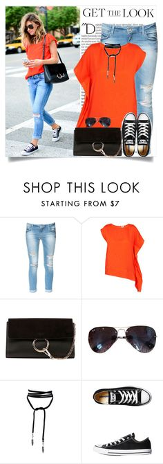 """get the look"" by lisamichele-cdxci ❤ liked on Polyvore featuring Balmain, Zara, Intropia, Chloé, Ray-Ban, Converse, BloggerStyle and cellajane"
