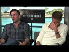 Chris Pine and Zachary Quinto on Star Trek fans and Into Darkness. Wow. I love that Quinto's vocabulary is so extensive and that the differences between these two in real life mirror the differences between their characters. Spock the intellectual, and Kirk the physical.