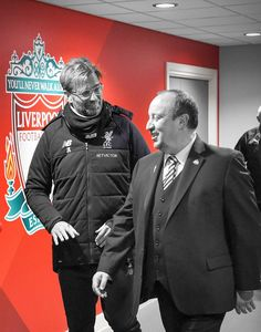 Jurgen Kloop and Rafa Benitez. Liverpool Fc, Salah Liverpool, Liverpool History, Liverpool Football Club, Messi, Liverpool You'll Never Walk Alone, Juergen Klopp, Uefa Super Cup, This Is Anfield