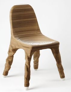 Hermann August Weizenegger: The Erosio chair emerged from a 3D design and acquires its shape from the layering and turning of paper. The compact arrangement of 900 sheets of paper lends the chair its solid state. A sintered component in the middle of the chair forms the core of a connecting system, to which four circular metal rods are fixed. The...