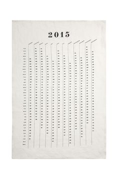 2015 Calendar Tea Towel design by Sir/Madam