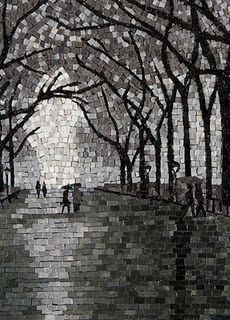 Rainy walk in the park