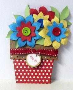 Flower Pot Card, by Cimorosete
