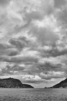 Dramatic cloudscape over St. John's, Newfoundland, Canada.