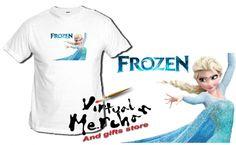 Camiseta Frozen Tshirt T-Shirt Xxl Niño Personajes Disney Pelicula Elsa Sola - Bekiro