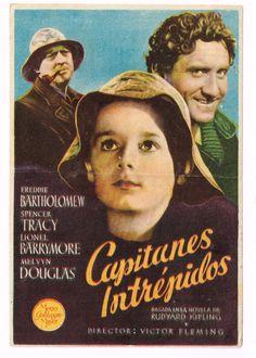 """El Acorazado Cinéfilo - Le Cuirassé Cinéphile: Programas de mano: """"Capitanes intrépidos"""" (1937) V..."""