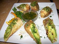 My favorite appetizer at Cheesecake Factory...Avocado Eggrolls.