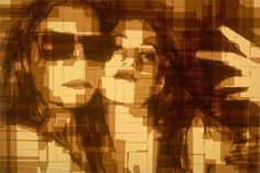 Parcel Tape Art - Artist Mark Khaisman has recreated stills from some of his favorite movies using nothing more than brown parcel tape. At first glance it appears they could have been made using computer software but these images are created layering stips of oridinary brown tape over each other. The picture is then illuminated from behind using a light box to reveal the image in all its splendor.