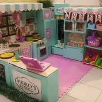 This mom's DIY cardboard play kitchen is absolutely amazing