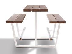 Tavolo da picnic alto con panchine integrate BEER TABLE by CASSECROUTE