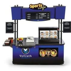 """we need one of these ! Vollrath 75695010W 9' 8"""" All Wood Composite Retail Food Cart - Vollrath - 75695010W"""