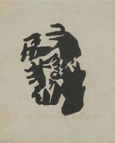 Jean Hans Arp - I can envision myself getting this as a tattoo. Tristan Tzara, Abstract Sculpture, Abstract Art, Zurich, Hans Richter, Textile Prints, Art Prints, Hans Arp, Francis Picabia