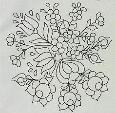 Folk Embroidery Patterns ARTEMELZA - Arte e Artesanato: Riscos para pintura bauernmalerei Mexican Embroidery, Hungarian Embroidery, Crewel Embroidery, Hand Embroidery Patterns, Embroidery Applique, Floral Embroidery, Beaded Embroidery, Embroidery Designs, Embroidery Saree