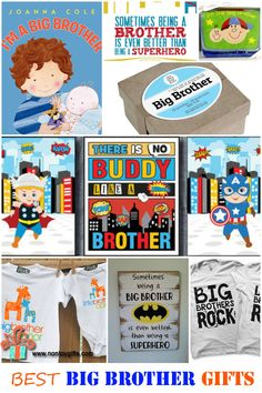 Best big brother gifts from baby. So many great gifts to make big brothers feel special and prepare them for brotherhood. #gifts #bigbrother