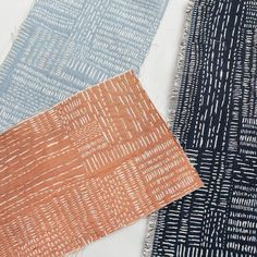 Our new Sashiko stitch woven fabric looks like it's hand embroidered but it's actually woven. Plus it's upholstery weight so it can be used for all your furniture - even the heavily used (and loved) pieces. #RAwovens #rebeccaatwood #sashikostitching