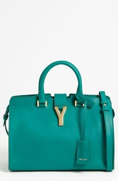 Saint Laurent 'Petite Ligne Y' Leather Tote available at #Nordstrom
