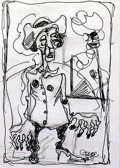 George Dunne-Madam #art #painting  #DukeStreetGallery #penandink #ink #drawing Street Gallery, People Talk, Ink, Drawings, Artist, Painting, Artists, Painting Art, Sketches