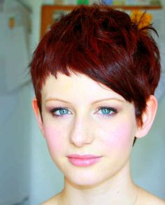 I love this modern pixie and color.  I would probably be able to rock this style if my hair was a bit thicker.   I am stuck with the spikes.