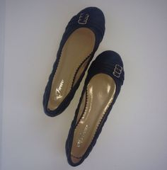 Women's Cute Medium Black Texture Flats Size 8.5 Kitty Paws Shoes #KittyPawsShoes #BalletFlats #Casual