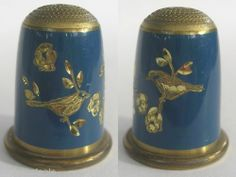 Birds Enamelled Engraved Brass Thimble   eBay / Nov 26, 2013 / GBP 20.00