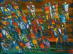 Walter Battiss (1906 - 1982)   Expressionism   The Gathering