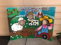 Farm Party- Farm Birthday- Farmer Party- cowboy Party- Barn Photo Prop- Farm Animal- Face in The Hole- Birthday Decor- Barnyard Party- 1st Birthday Boy Themes, Farm Animal Birthday, Birthday Party Games, 1st Boy Birthday, Birthday Decorations, Barnyard Party, Farm Party, Barney Birthday, Jamel